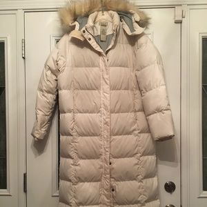 LL Bean down full length coat.